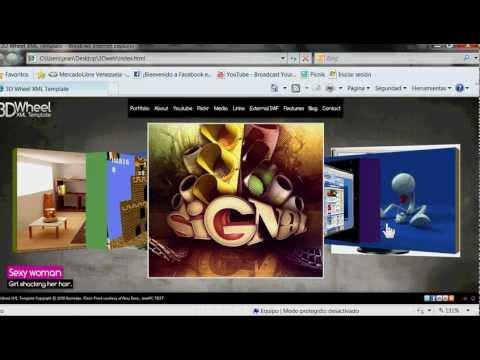 Tutorial paginas WEB 3D parte   Español