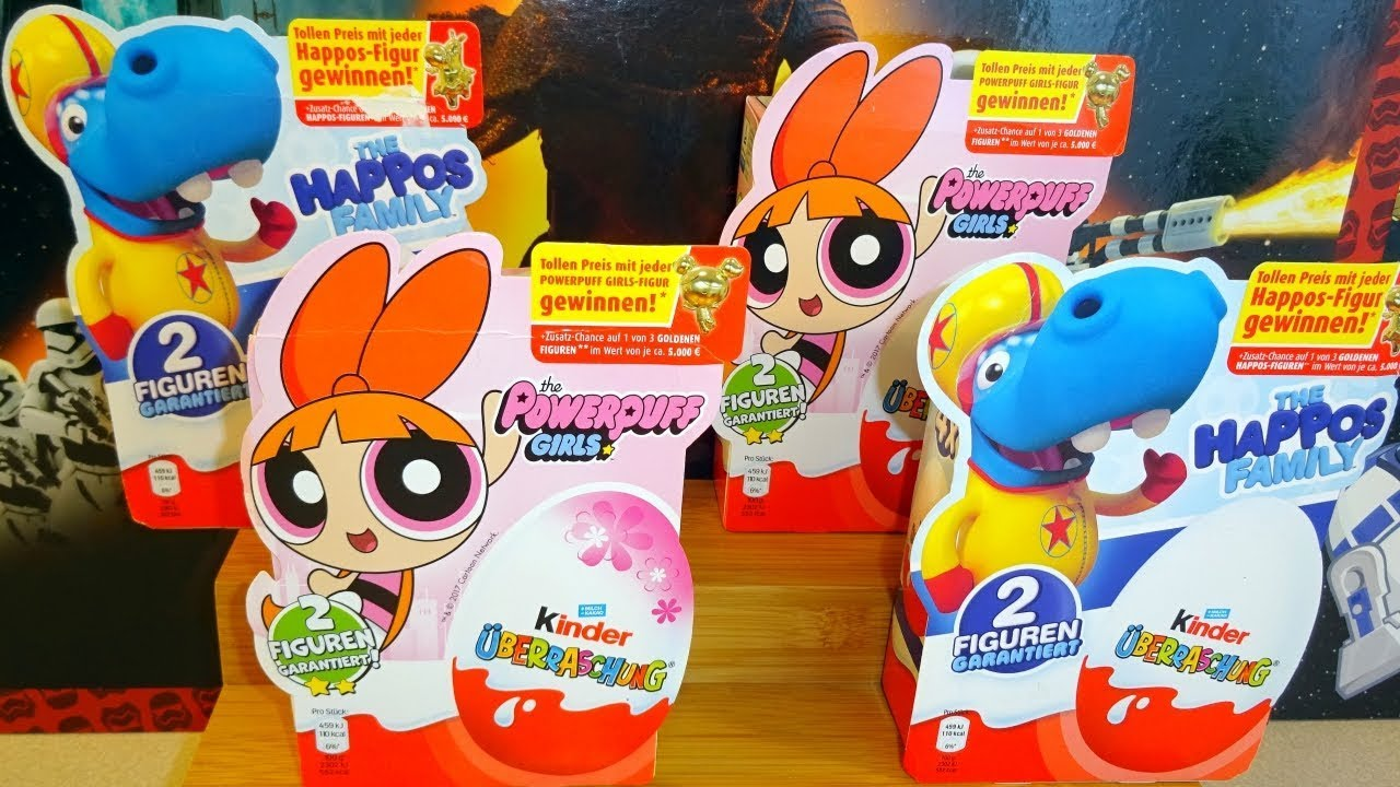 Kinder Surprise Egg The Powerpuff Girls 2018