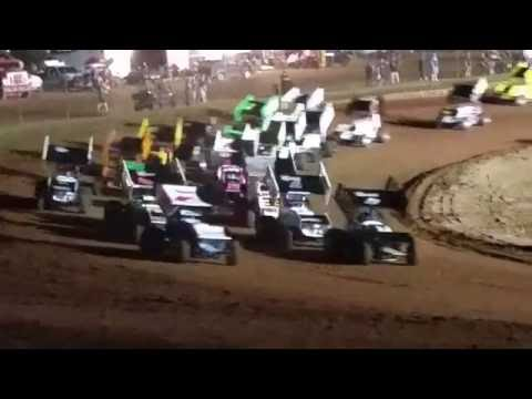 Lawton Speedway OCRS Sprints A feature part 1 6/4/2016