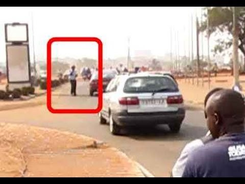 Lome Togo Moto Taxi Driver Disobeys Police Halt Signal