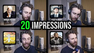 1 guy, 20 voices (Marvel, Peaky Blinders, GoT, Lotr & MORE impressions!)