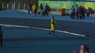World Record Holder - Usain Bolt Javelin Throw at Rio Olympic Stadium