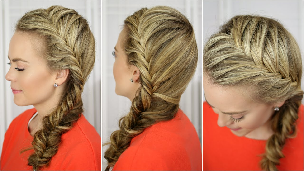 Fishtail french braid youtube fishtail french braid solutioingenieria Gallery