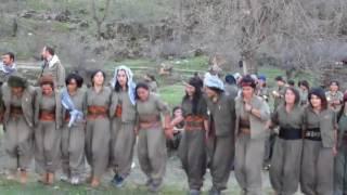 Kurdish female fighters dancing in the mountains of Kurdistan Video