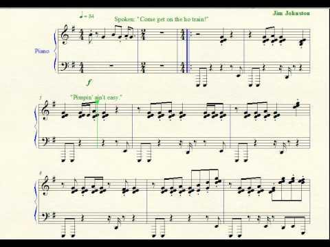 Wrestling Piano Theme Sheet Music  Ho Train The Godfather Wwe