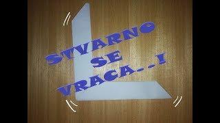 TUTORIAL: Kako Napraviti Origami Bumerang od papira. Stvarno se VRACA!