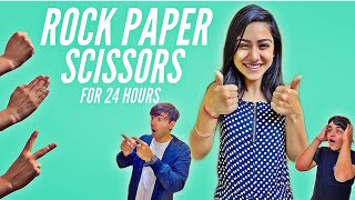 ROCK PAPER SCISSORS FOR 24 HOURS CHALLENGE | Rimorav Vlogs