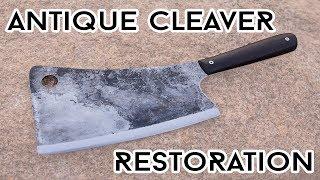 Antique Cleaver Knife Restoration