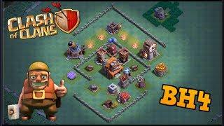 Clash Of Clans Taller de Constructor 4 - Bh4/Th4 Diseño de Aldea (La mejor defensa de Coc)