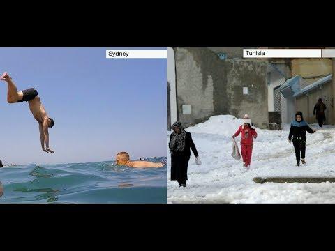 Weather Events 2019 - Snow & Heat (Tunisia & Australia) - BBC News - 26th January 2019