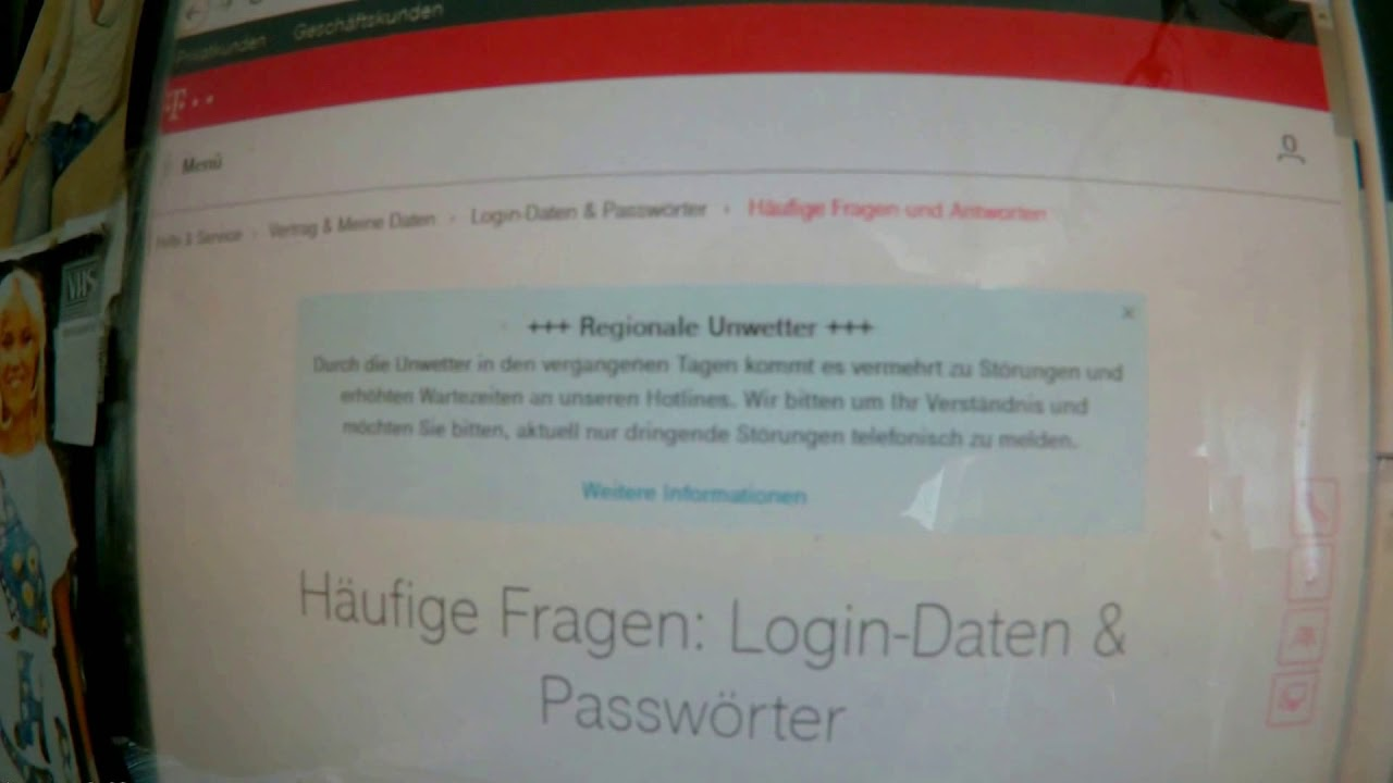 Email Störung Telekom