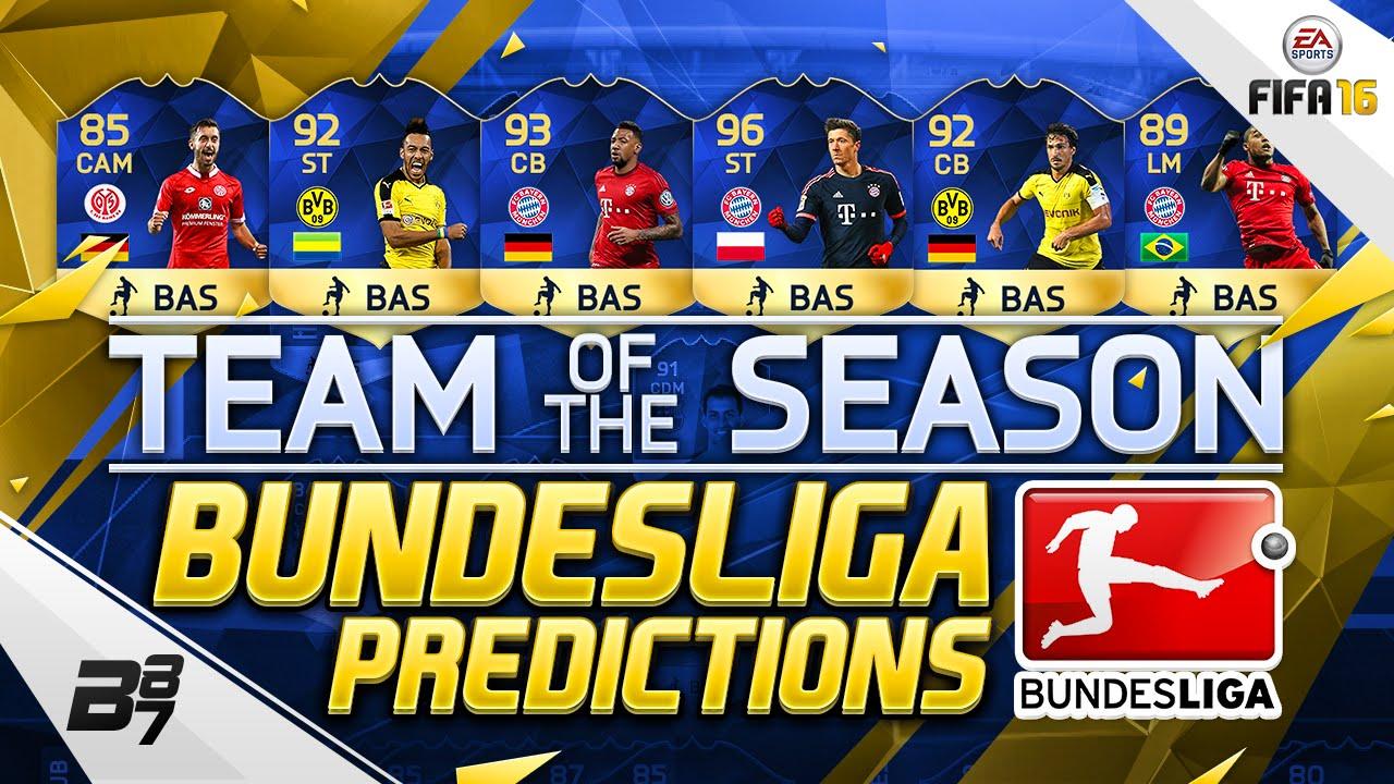 Bundesliga team of the season tots predictions w tots aubameyang