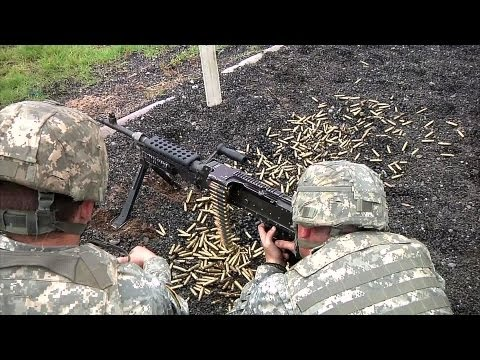 Army National Guard MP Fire And Qualify With M240 Bravo Machine Gun