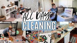 ALL DAY CLEAN WITH ME 2019 | WHOLE HOUSE CLEANING | COMPLETE DISASTER CLEANING MOTIVATION