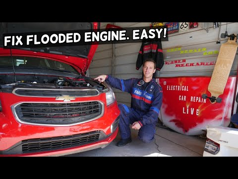HOW TO FIX FLOODED ENGINE, FLOODED SPARK PLUGS CHEVY, CHEVROLET, GMC, BUICK, CADILLAC