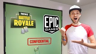 Download Video Ali-A VISITS EPIC GAMES! (+ NEW *SECRET* Fortnite: Battle Royale REVEALED) MP3 3GP MP4