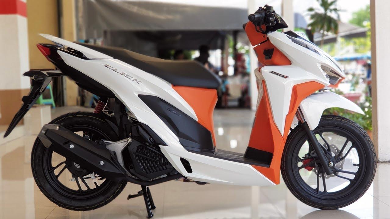 New 2019 Honda Click 150i White-Orange