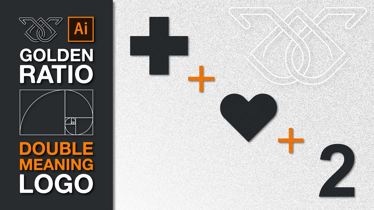 Double Meaning Logo Design Using Golden Ratio Step By Step Cross