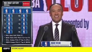 NBA Draft Lottery Full 14 Picks