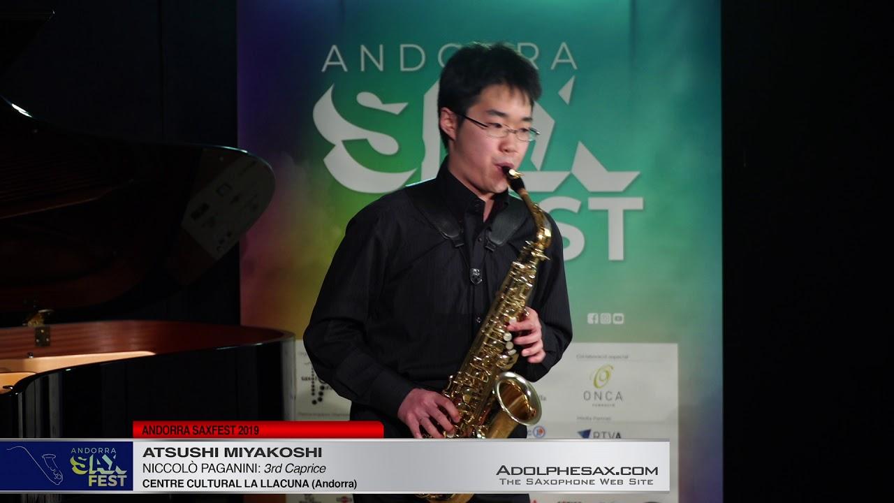 Andorra SaxFest 2019 1st Round   Atsushi Miyakoshi   3rd Caprice by Niccolo Paganini