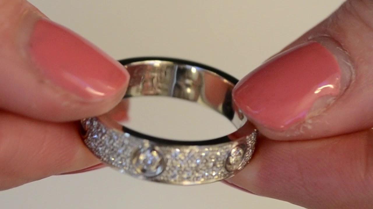 A Cartier Diamond Love Ring Youtube