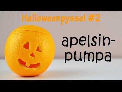 Halloweenpyssel   halloweenpumpa av en apelsin