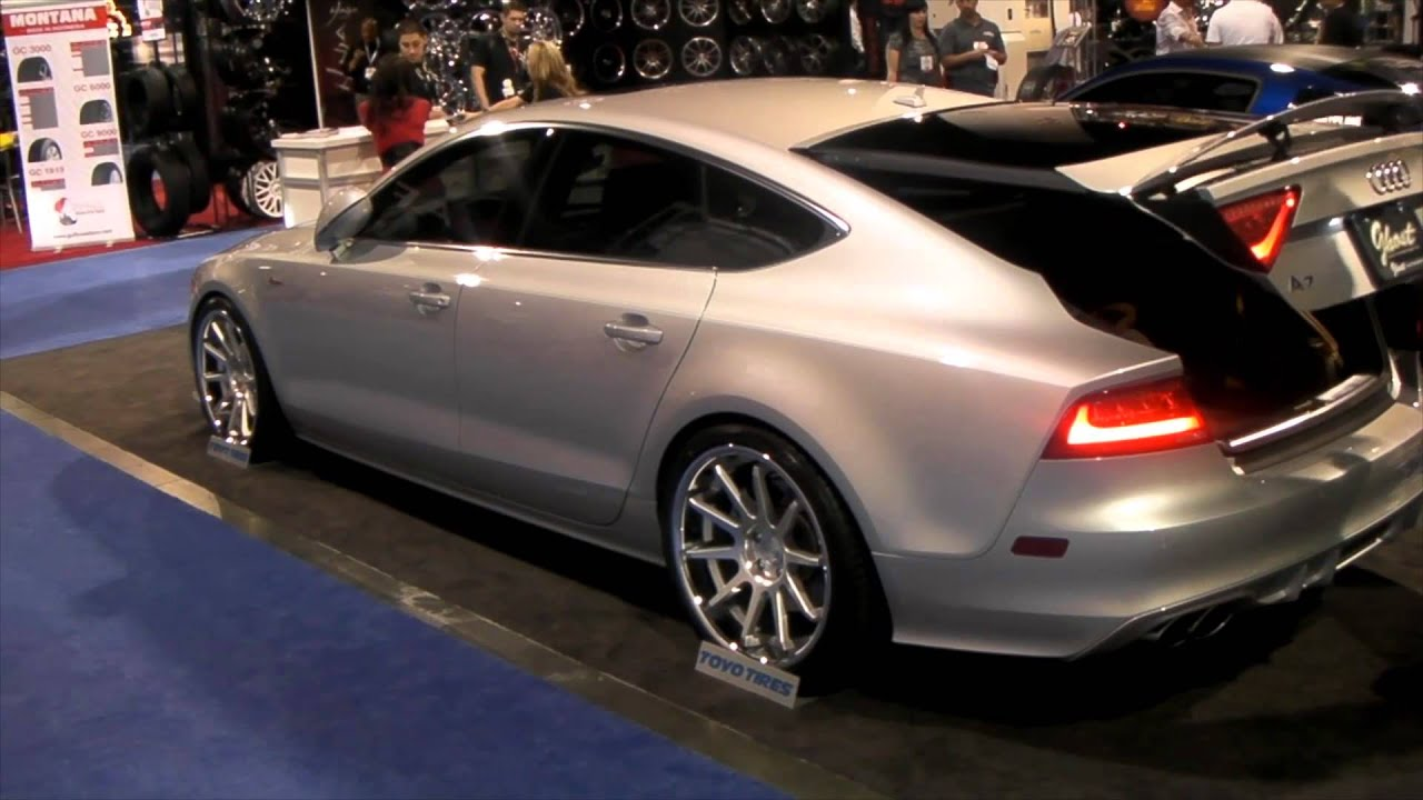 DUBSandTIRES.com 2011 Audi A8 Review 20 inch Concept One Hypersilver wheels tuner wheels - YouTube