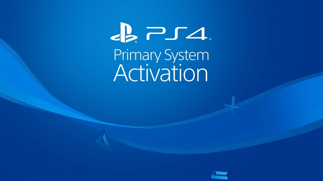 PS4 Primary System Activation video