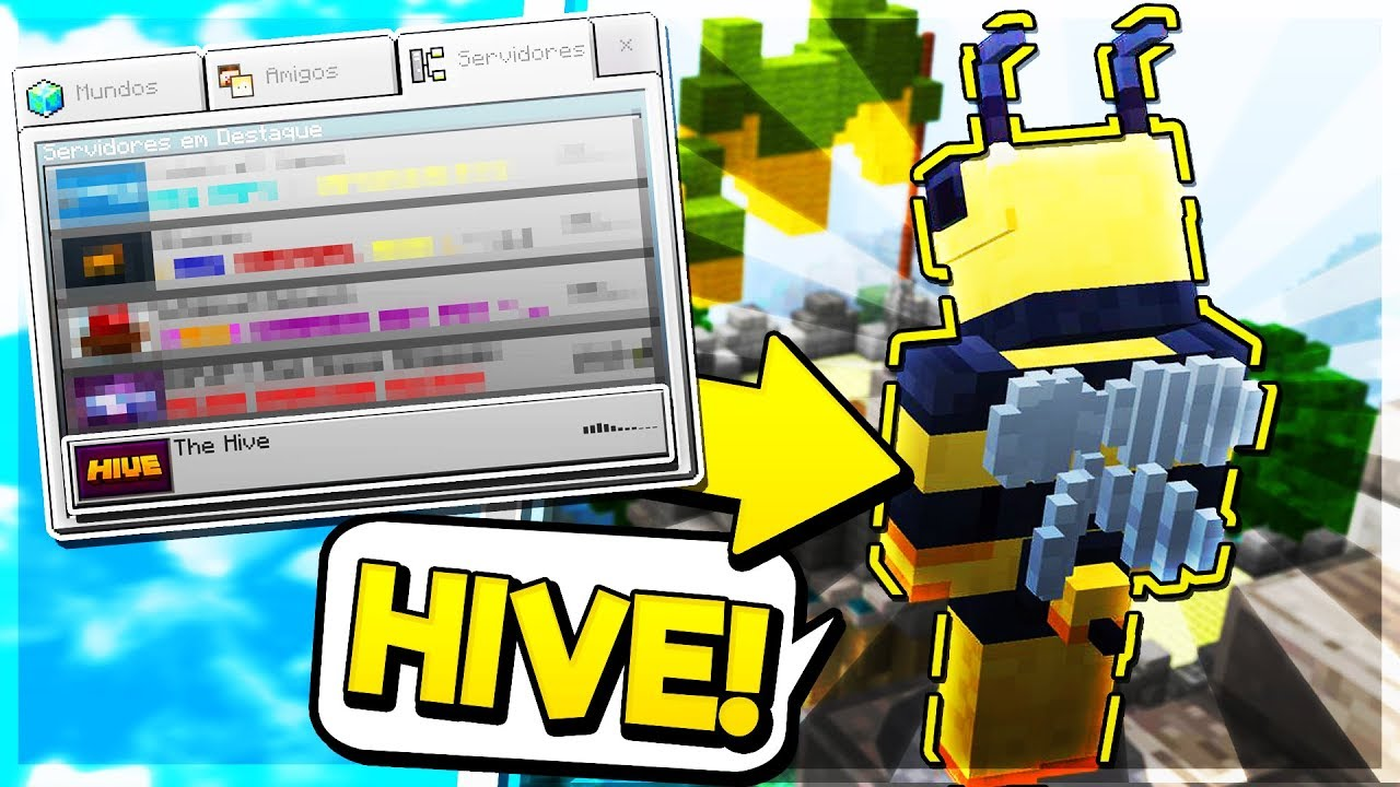New Hive Server In Mcpe Minecraft Pe Pocket Edition Youtube