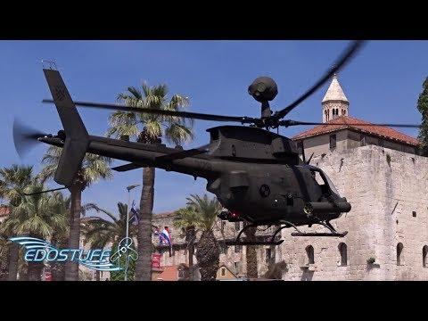 Croatian Air Force OH-58D Kiowa Warrior - Split Riva Landing