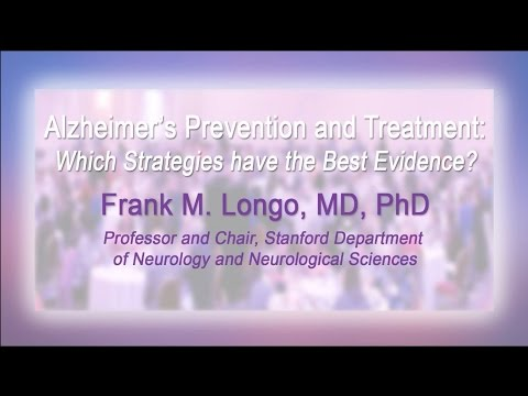 Frank Longo, MD, PhD: Alzheimers Prevention & Treatment, 2015 Updates on Dementia Conference
