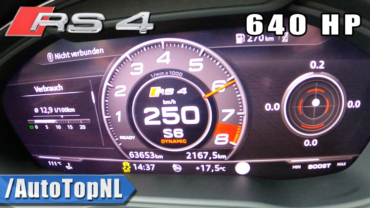 640HP AUDI RS4 B9 0-250 ACCELERATION & LAUNCH CONTROL by AutoTopNL