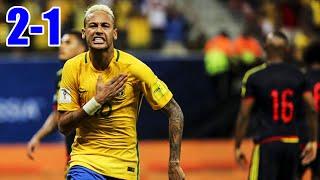 Brasil vs Colombia 2-1 RESUMEN GOLES Eliminatorias Rusia 06/09/2016