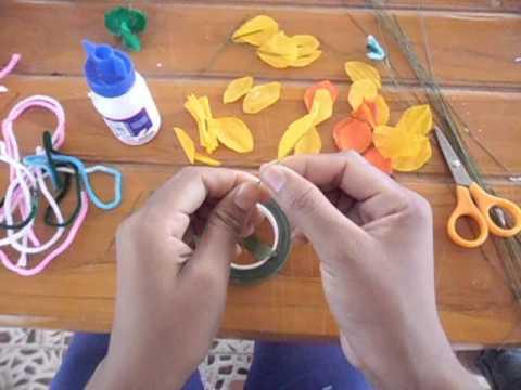 โครงงาน  เรื่อง  การทำดอกไม้จากกระดาษสา