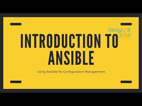 Ansible Configuration Management-Introduction