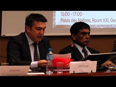 Abubakar Siddique Correspondent, Radio Free Europe/Radio Liberty addressing the event on Balochistan