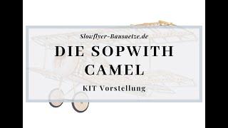 [Modellschau] Sopwith Camel Doppeldecker Slow Flyer KIT, 380 mm Spannweite, 1/20 Maßstab