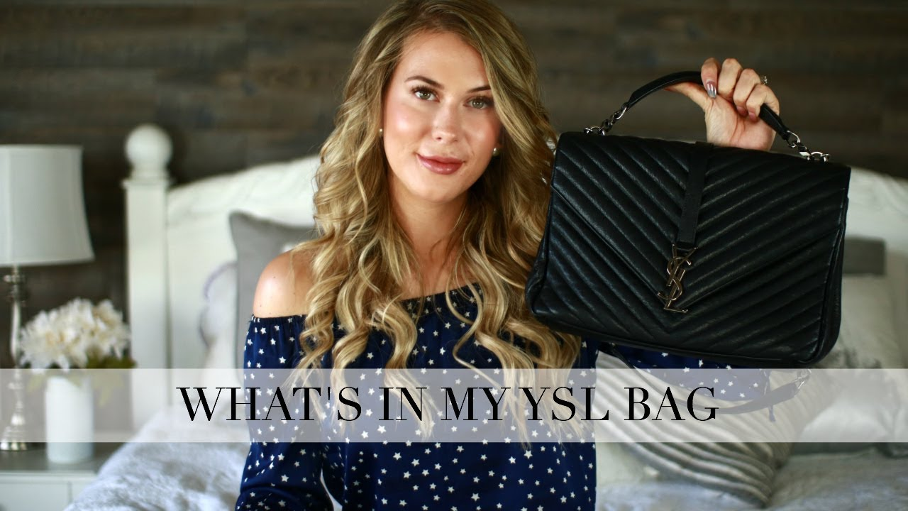 WHAT S IN MY YSL COLLEGE BAG + 6 MONTH UPDATE - YouTube def88eb0898cd