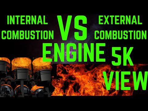 Difference Between Internal Combustion Engine Vs External Combustion Engine   In Hindi