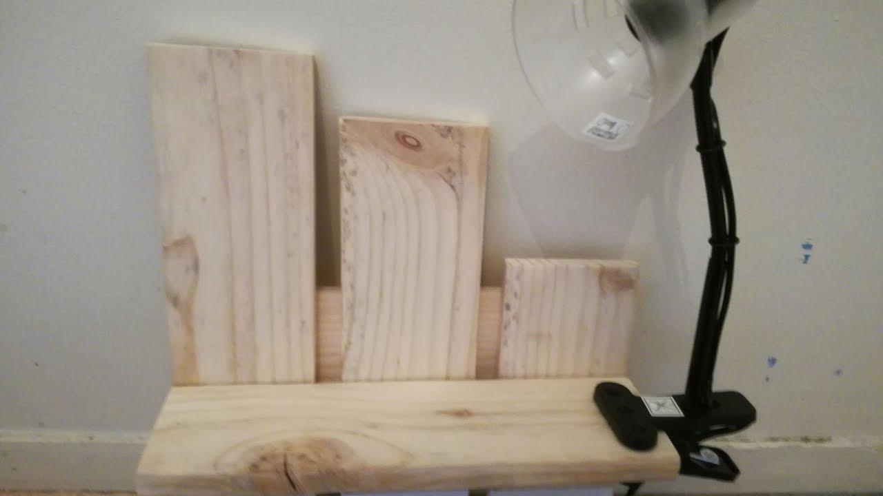 Petite Table De Nuit Bois fabrication chevet mural avec palettes en bois