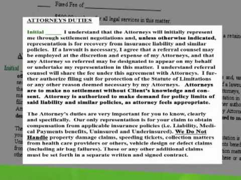 Oklahoma Car Accident Injury Claim Process Chapter 22 - What the Law Center does