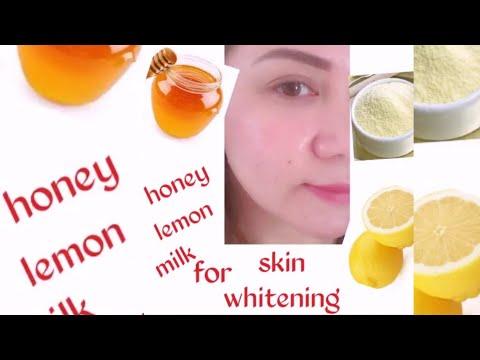 Honey,Lemon,Milk for skin