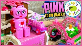 Mom Makes an ALL PINK THOMAS TRACK?! Fun Toy Trains for Kids!