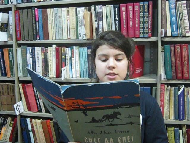 Изображение предпросмотра прочтения – ЛюдмилаГорушкина читает произведение «Пороша» А.А.Блока