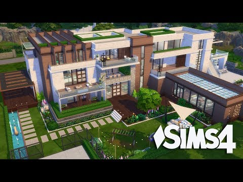 The Sims 4 - Let's Build a Modern Mansion (Part 12 ) Realtime