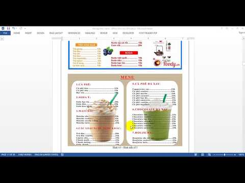 Thiết kế mẫu quảng cáo, tờ rơi, menu bán hàng trên WORD 2013 - w33