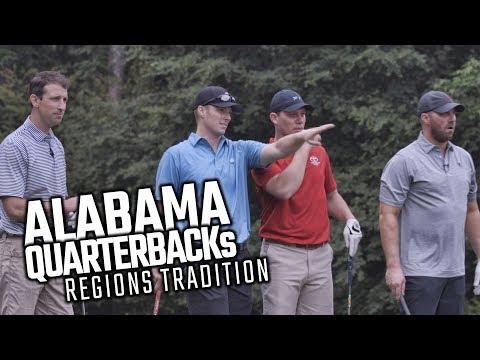 Follow 4 Alabama QBs play golf, do a few pushups