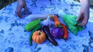 муляжи овощей . Краткий видео-обзор