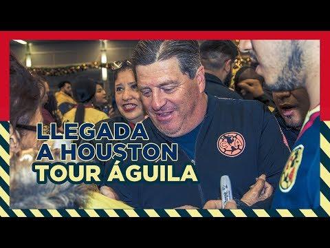 Llegada a Houston del Club América