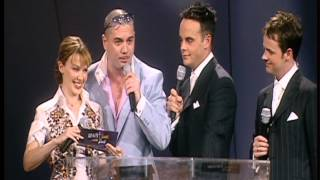 U2 win International Group presented by Kylie Minogue & Huey Morgan | BRIT Awards 2001